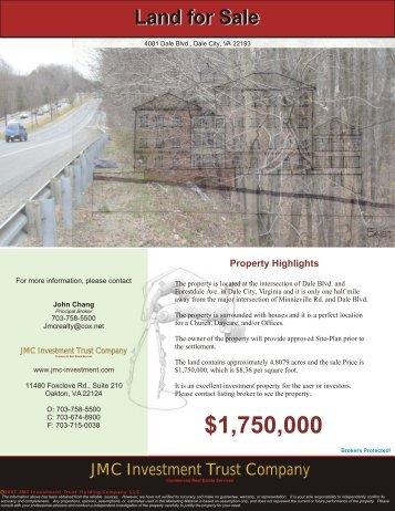 4081 Dale Blvd., Dale City, VA 22193 - JMC Investment Trust ...