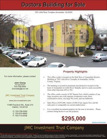 7501 Little River Turnpike, Annandale, VA - JMC Investment Trust ...