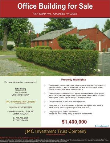 4201 Martin Ave., Annandale, VA 22003 - JMC Investment Trust ...