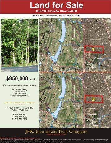6000 Clifton Rd. Clifton, VA 20124 - JMC Investment Trust Company