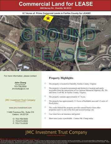 6.7 Acres of Commercial Land in Chantilly - JMC Investment Trust ...