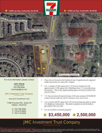 13305 & 13309 Lee Highway, Centreville, VA - JMC Investment ...