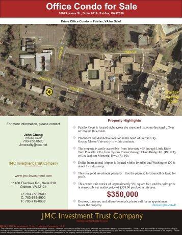 10625 Jones St., 201A, Fairfax, VA 22030 - JMC Investment Trust ...