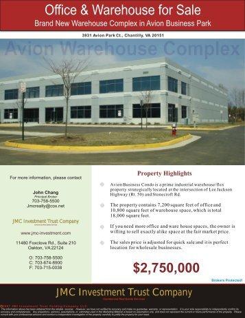 Avion Business Condo in Chantilly, VA - JMC Investment Trust ...