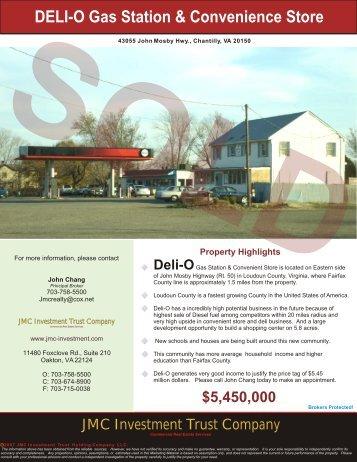 Deli-O Chantilly, VA - JMC Investment Trust Company