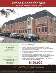 Office Condo for Sale - JMC Investment Trust Company
