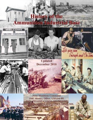 History of the Ammunition Industrial Base - JMC - U.S. Army