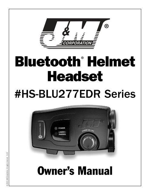 Bluetooth Helmet Headset - J&M Motorcycle Audio