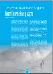 Jeotermal Kaynakların Sağlık ve - Jeoloji Mühendisleri Odası