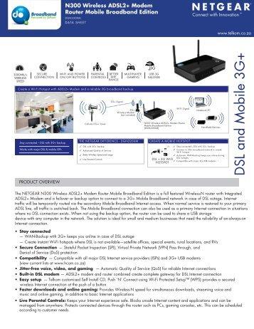 DSL and Mobile 3G+ - Telkom Residential