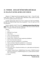 23. Olağan Genel Kurul Sürecimiz - Jeoloji Mühendisleri Odası