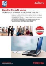 Satellite Pro A40 series - Computer Systems - Toshiba
