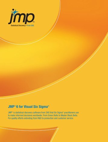 JMP® 6 for Visual Six Sigma®