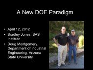 Presentation: A New DOE Paradigm - JMP