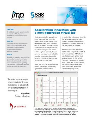 Accelerating innovation with a next-generation virtual lab - JMP