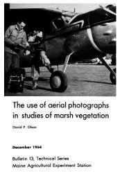The use of aerial photographs  in studies of marsh vegetation