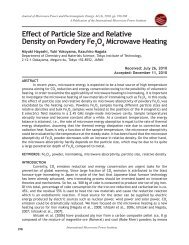 Effect of Particle Size and Relative Density on Powdery Fe ... - JMPEE