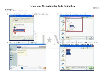 How to burn files to disc using Roxio Central Data - JM Steno