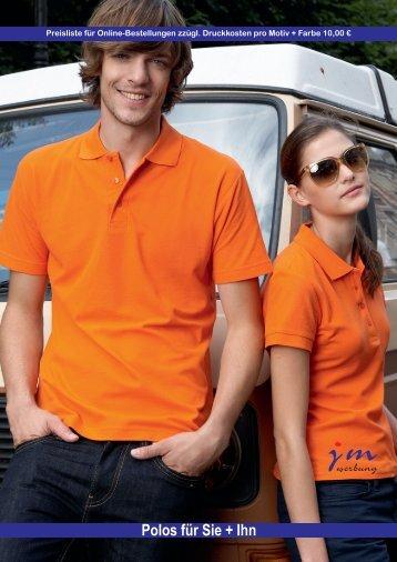P olo Shirts für Sie & Ihn (Langarm) - jm werbung