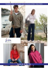Sw eat Shirts für Sie & Ihn (Jackets) - jm werbung