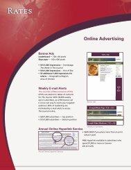 Advertising Rates - Journal of Neuroscience