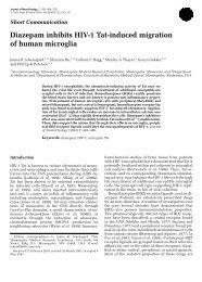 Diazepam inhibits HIV-1 Tat-induced migration of human microglia