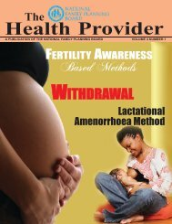 The Health Provider (Vol. 4, No. 1) - National Family Planning Board