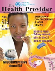 Health Provider (Vol. 3, No. 4) - National Family Planning Board