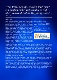 Newsletter - Nr.3 vom 12. Oktober 2008 - Christliche Gemeinde ...