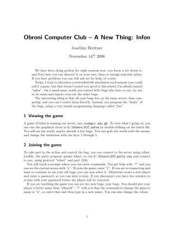 Obroni Computer Club – A New Thing: Infon - Joachim Breitner