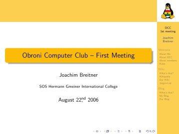 wiki and blog - Joachim Breitner
