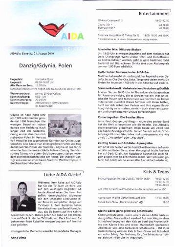Tagesprogramm - Elke & Joachim Gerhard