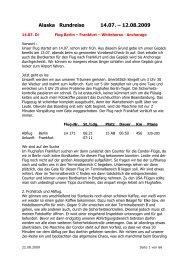 Flug Berlin – Frankfurt, Abflug Frankfurt - Elke & Joachim Gerhard