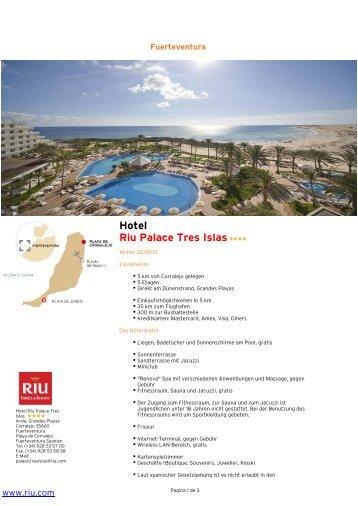 Hotel Riu Palace Tres Islas - Elke & Joachim Gerhard