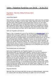 Indien / Rajasthan-Rundreise vom 09.06. – 26.06.2013