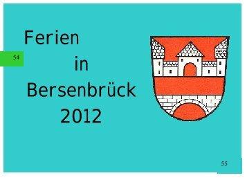 Ferienspaß 2012 - Jugendpflege der Samtgemeinde Bersenbrück