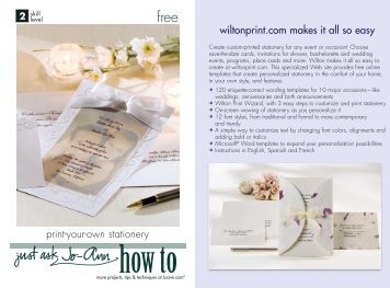 www wiltonprint com templates - 180 free magazines from joann com