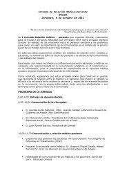 Jornada de Relación Médico-Paciente OMSIDA Zaragoza, 6 de ...