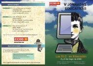 V jornadas educativas CCOO.pdf - Centro Joaquín Roncal