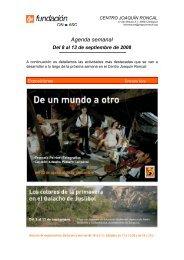 Agenda semanal - Centro Joaquín Roncal