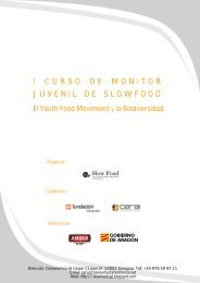 Curso monitor Slow Food 2010.pdf - Centro Joaquín Roncal