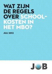brochure - Jongeren Organisatie Beroepsonderwijs