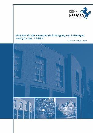 2009-10-15 Handbuch § 23 SGB II