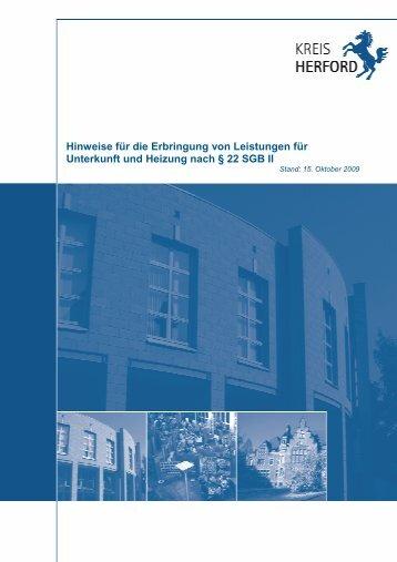 Handbuch Kosten der Unterkunft - Jobcenter Herford
