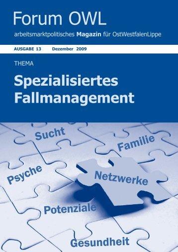 Spezialisiertes Fallmanagement - Jobcenter Herford