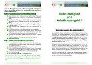 Selbständigkeit und Arbeitslosengeld II - Jobcenter Kreis Wesel