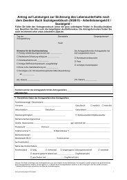 Antrag Arbeitslosengeld II - Jobcenter Lippe