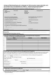 Antrag zur Fortzahlung von Arbeitslosengeld II - Jobcenter Lippe