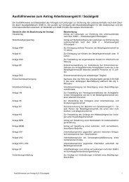 Ausfüllhinweise zum Antrag Arbeitslosengeld II ... - Jobcenter Lippe