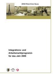 Integrations- und Arbeitsmarktprogramm für das Jahr 2009